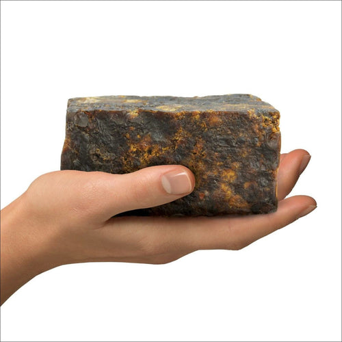 African Raw Black Soap 100% Natural( half Lb)