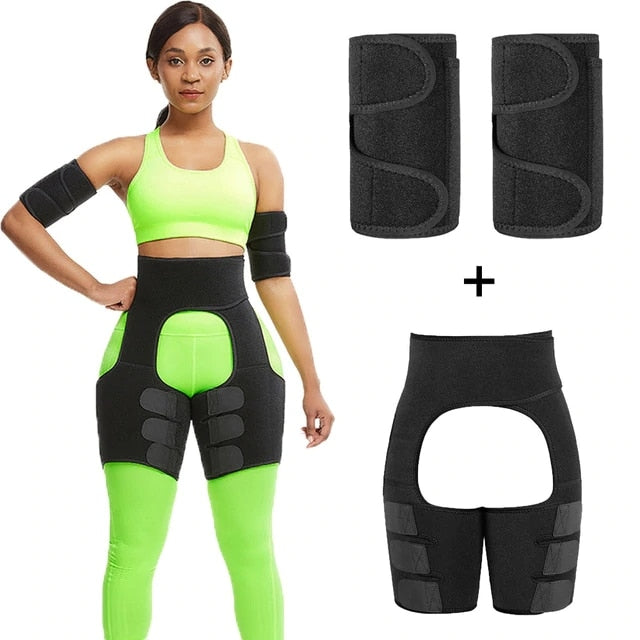 Free Shipping - Fat Burning Butt Lifter Powerful Slimming Arm Shaper Leg Shaper Waist Booty Trainer Weight Loss Slimming Belt