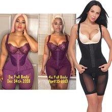 Load image into Gallery viewer, Plus Size Women Full Body Shapewear Underbust Slimming Mid thigh Shaper fajasTummy - Free Shipping