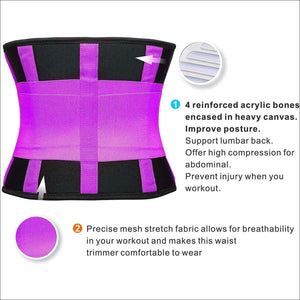 Waist Trainer Belt Body Shaper Belly Wrap Trimmer Slimmer Compression Band for Weight Loss Workout Fitness