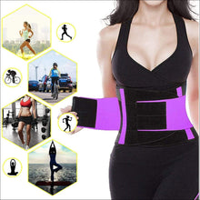 Load image into Gallery viewer, Waist Trainer Belt Body Shaper Belly Wrap Trimmer Slimmer Compression Band for Weight Loss Workout Fitness