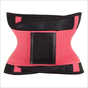 women slimming body shaper waist Belt girdles Control Waist trainer corset Shapwear modeling strap - Pink / S / China
