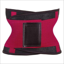 Load image into Gallery viewer, women slimming body shaper waist Belt girdles Control Waist trainer corset Shapwear modeling strap - Red / S / China