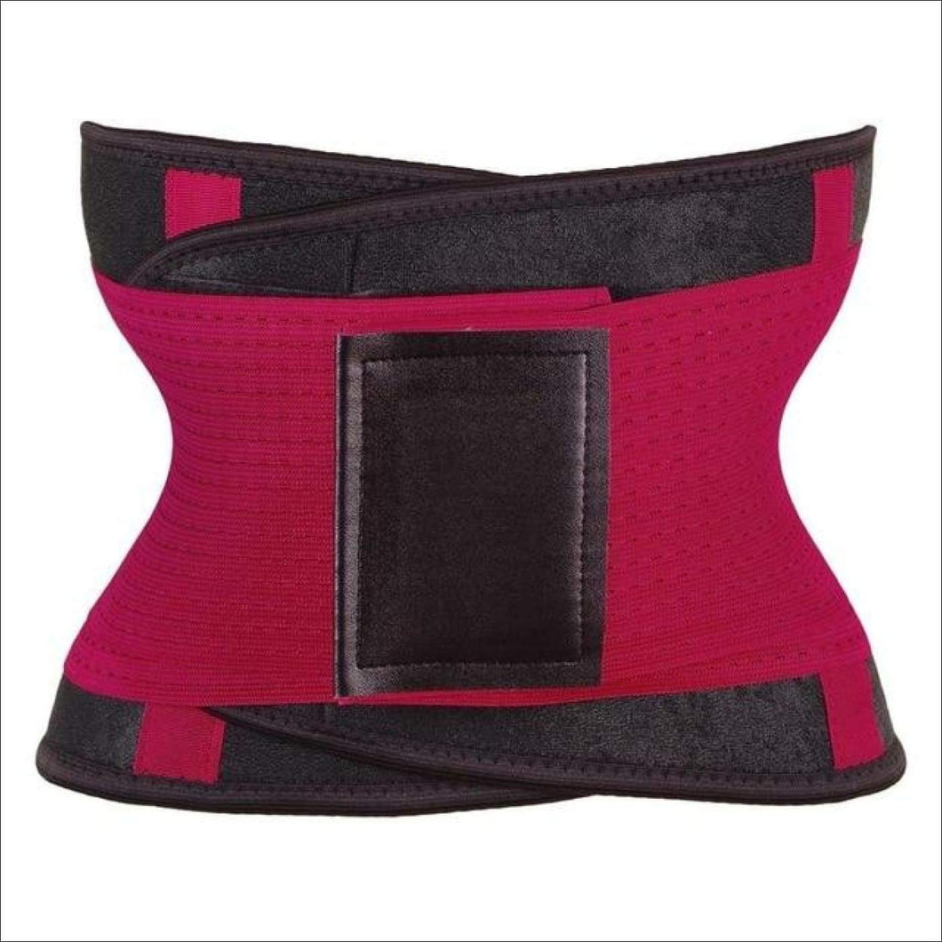 women slimming body shaper waist Belt girdles Control Waist trainer corset Shapwear modeling strap - Red / S / China