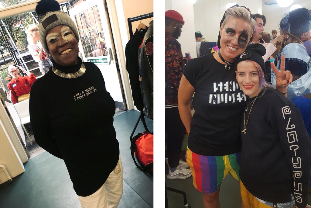 Platypus UK Backstage at London Queer Fashion Show 2018