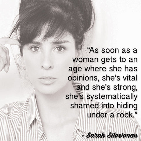 Sarah Silverman top 10 feminist quotes on Platypus Clothing