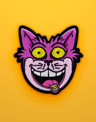 We're All Mad Here Cheshire Cat with Acid Tab Iron on Patch @ Platypus UK Streetwear Clothing