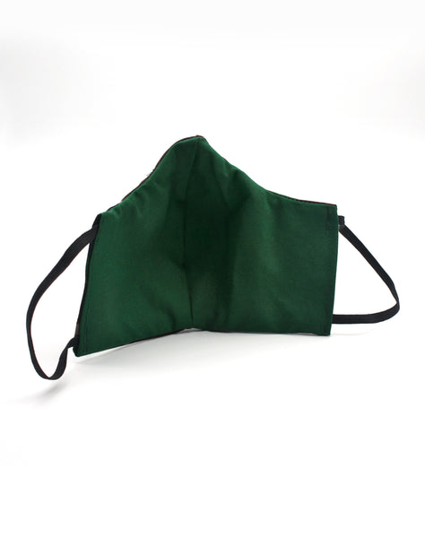 green inside of elastic unisex face mask