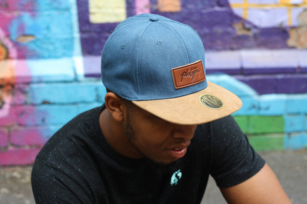 Platypus Headwear Denim and Suede Style Snapback Cap and Street Art