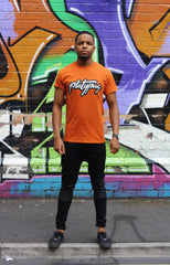 Steet Art Platypus Logo Orange T-Shirt Graffiti Image