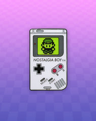 Nostalgia boy game boy parody enamel pin badge vaporwave BG hero