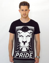 frontpage model image of Left Lion Notts Pride T-shirt by Platypus Streetwear