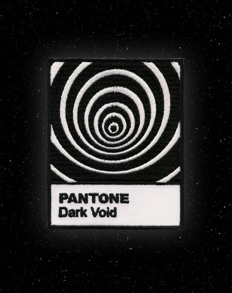 Optical illusion Pantone Dark Void Parody Iron on Patch Design | Platypus Streetwear