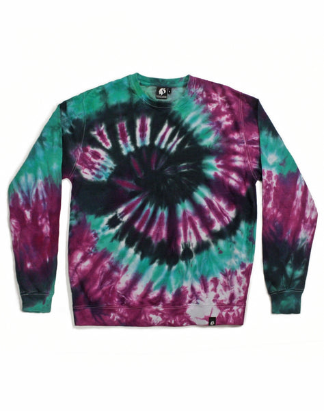 Tie Dye Purple and Blue Spiral Sweatshirt - Size XL