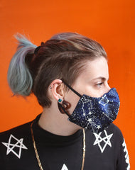 Glow in the Dark Constellation Fitted Fabric Face Mask