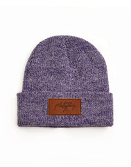 antique purple Knit Beanie hat leather platypus streetwear brand free UK shipping