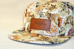 Close up of Platypus Autumn Floral 5-Panel Hat