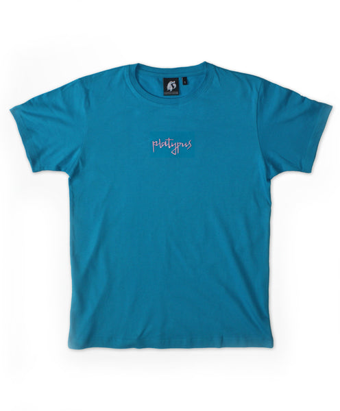 Platypus Mini Signature - Blue & Pink Embroidered T-Shirt