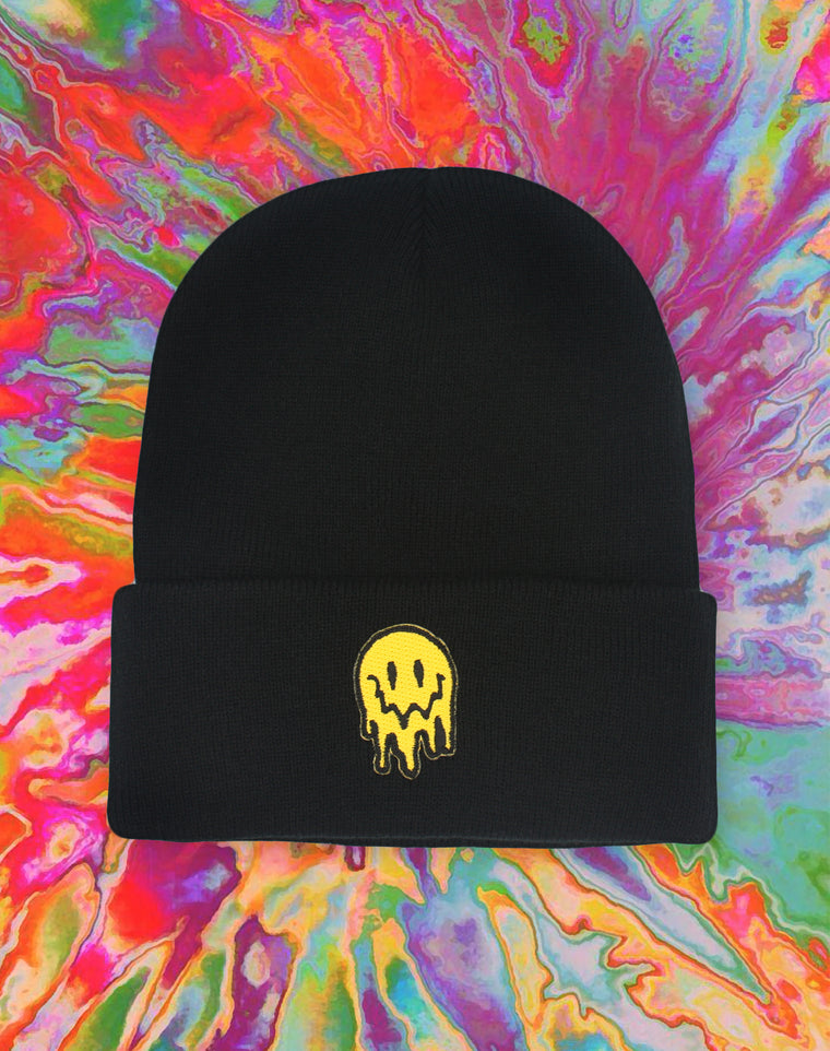 Trippy Smiley Face Beanie Hat