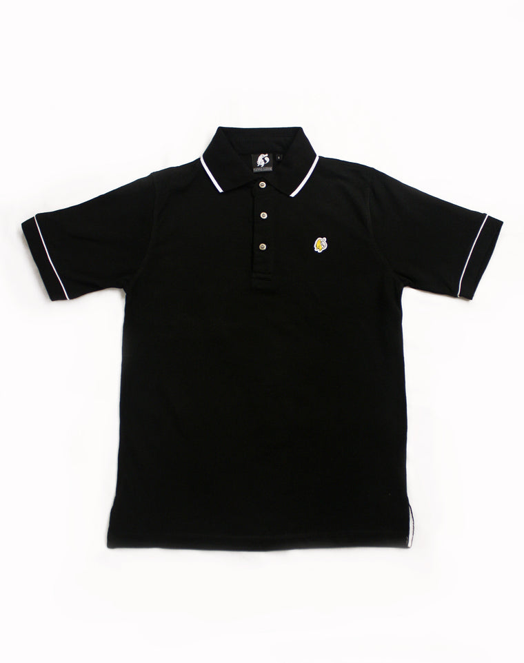 White Tipped Black Platypus Emblem Polo