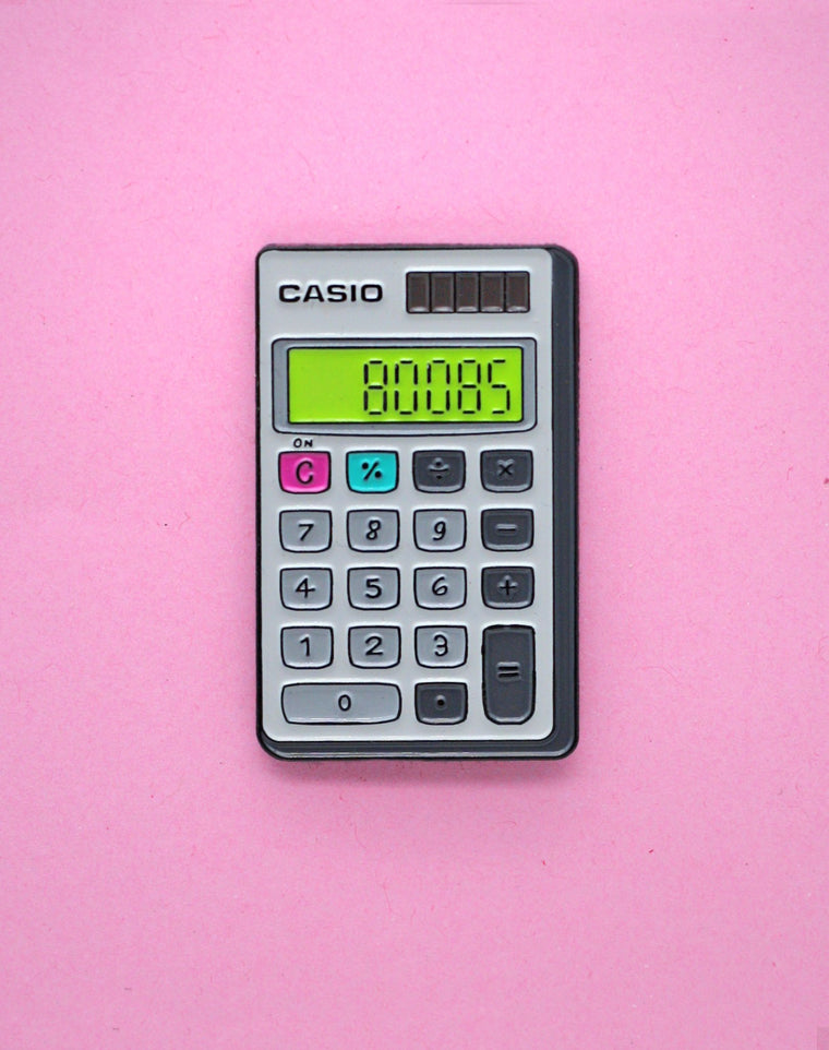 Boobs Casio Calculator (Glow in the Dark) Enamel Pin
