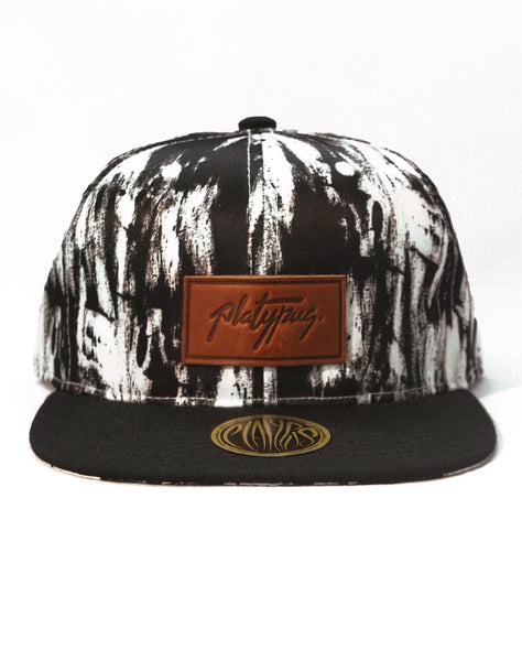 Platypus Independent Streetwear Clothing Crown Charcoal Pattern Signature Snapback Hat