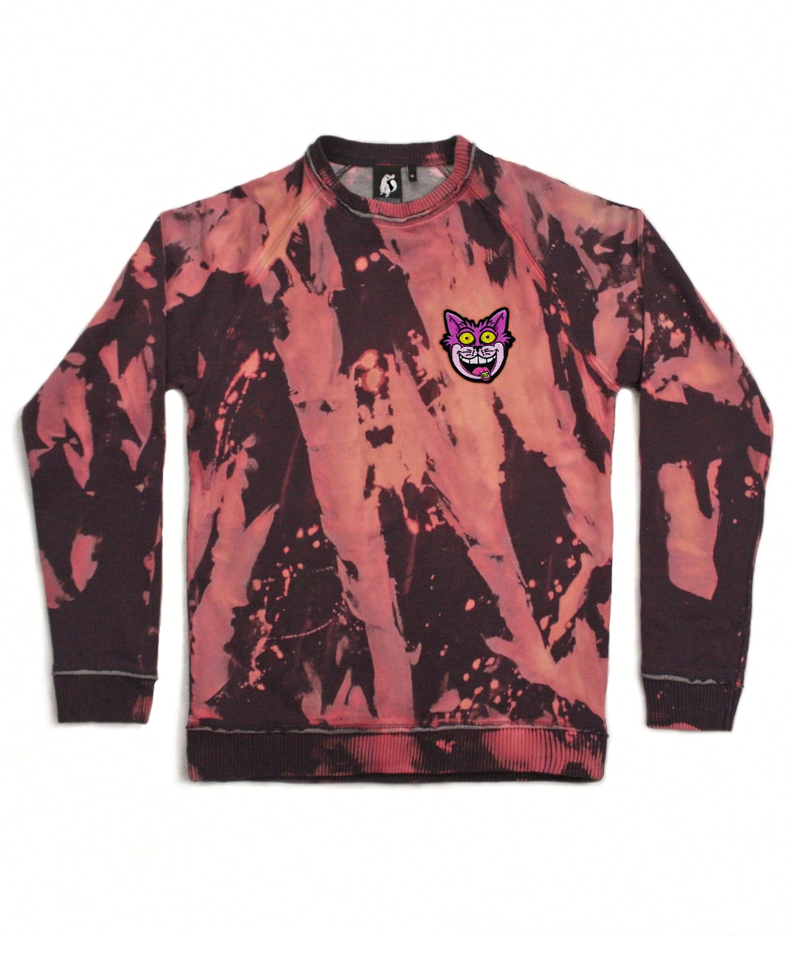 acid-wash-cheshire-cat-sweatshirt-jumper Platypus UK Streetwear