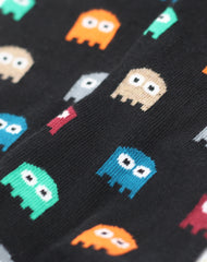 Detail of Retro Pac-man Ghosts Patterned novelty mens socks by Joe Cool UK