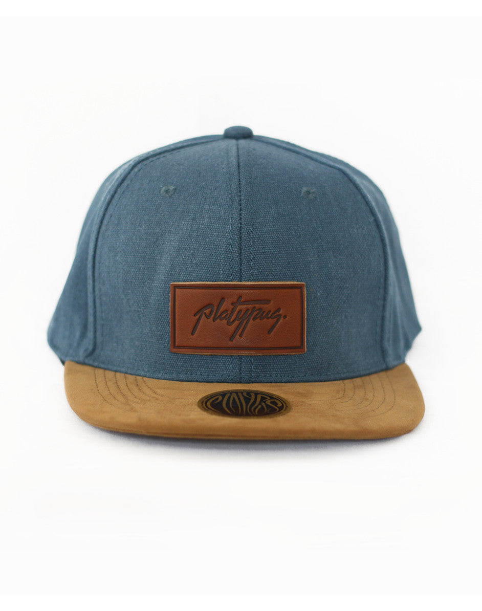 Platypus UK Denim and Suede Style Snapback Cap
