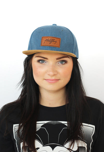 Platypus Headwear Denim and Suede Style Snapback Cap and Notts Pride T-shirt