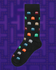 80s Pac-man Retro game designer mens sock on Platypus Uk Streetwear