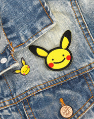Pokemon Pikachu Enamel Pin badge & Iron on Patch for denim jacket