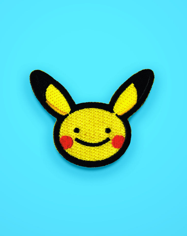 Ditto Face Pikachu Iron-on Patch