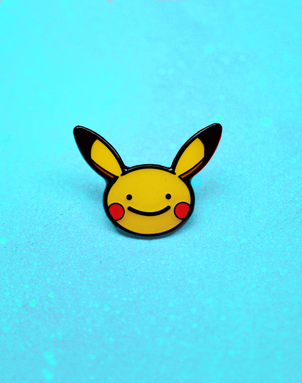 Gloss Enamel Ditto Face Pin Badge with Rubber Back. Platypus UK Streetwear