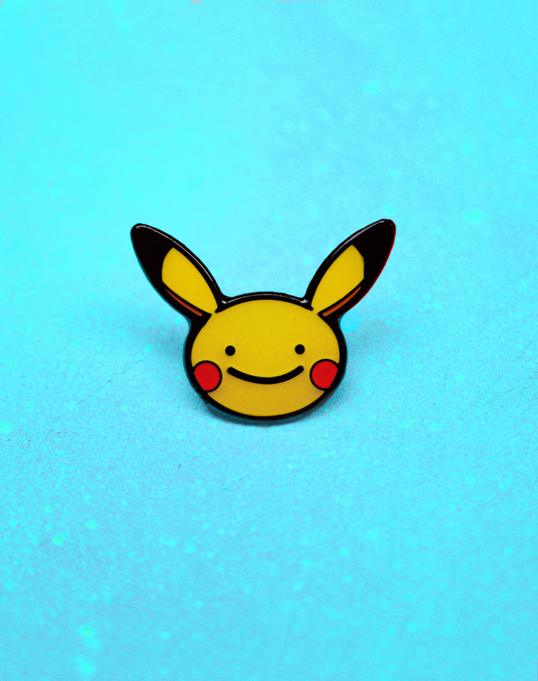 Ditto Face Pikachu Enamel Pin