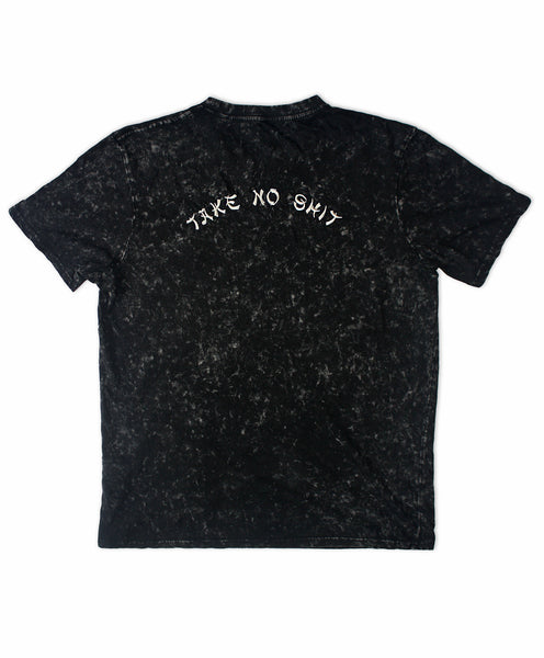 Do No Harm Embroidered Acid Wash T-Shirt