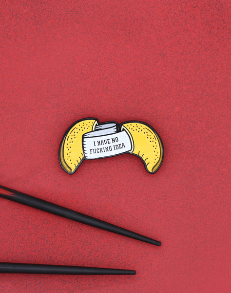 Fortune cookie asiain snack food soft enamel pin badge