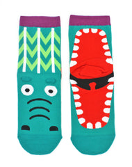 Pair of funny novelty crocodile mouth unisex socks Platypus UK Accessories