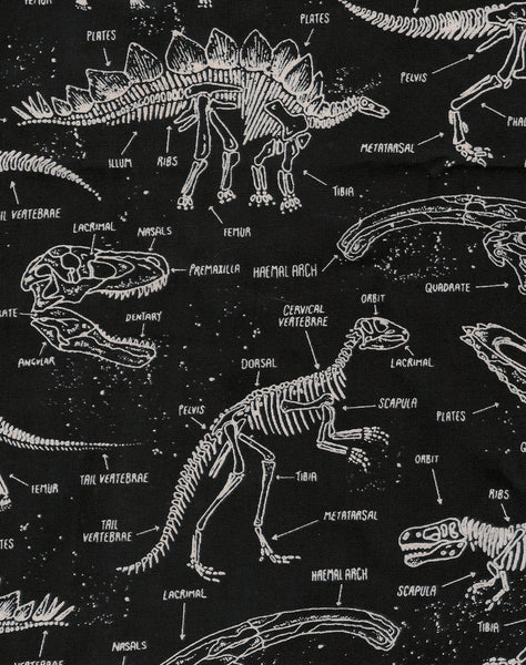 gothy cool grunge pattern glow in the dark dinosaur print