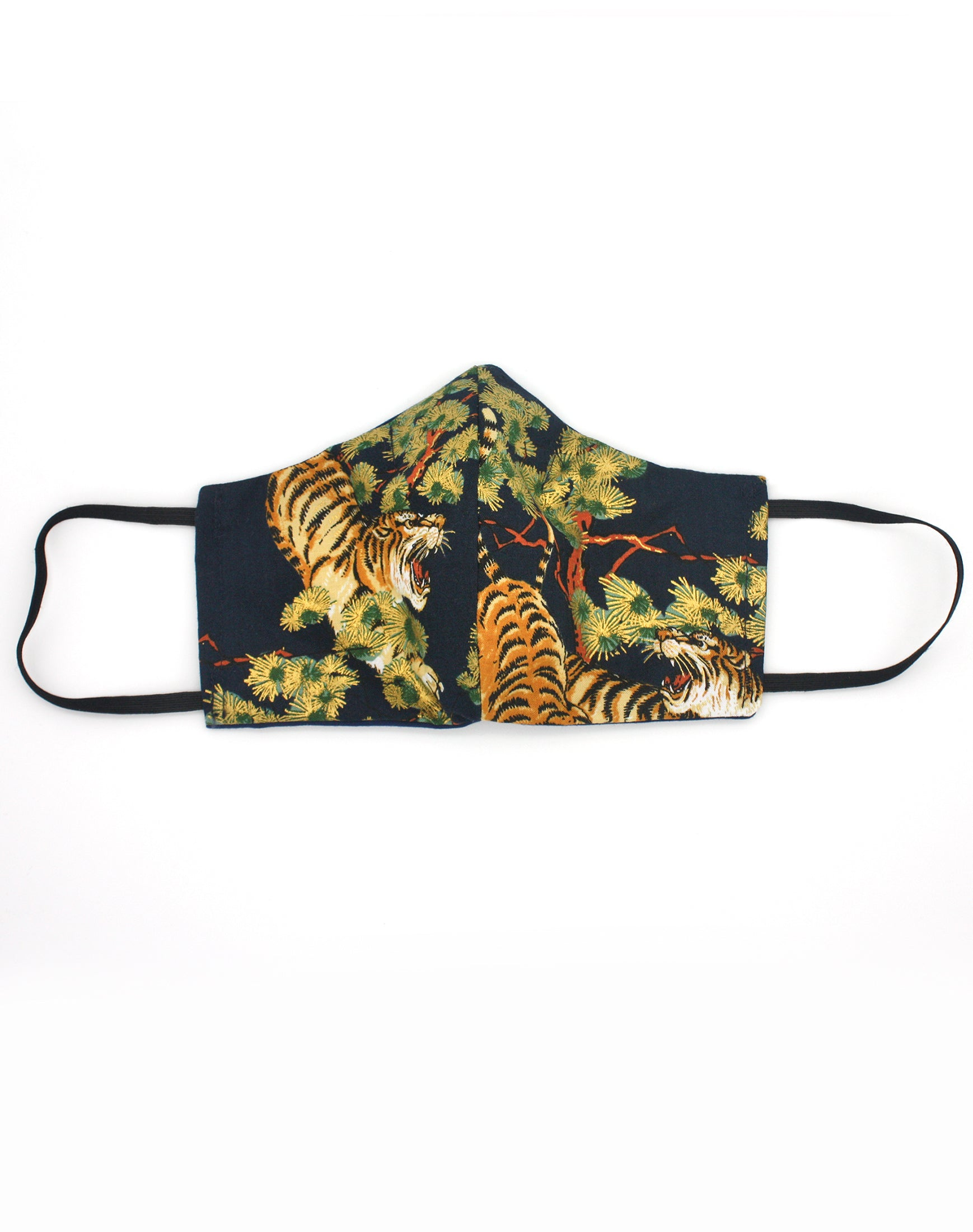 Luxe Japanese Tiger Pattern Cloth Fabric Mask
