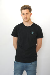 Model shot Men's Fleck Platypus Emblem T-Shirt