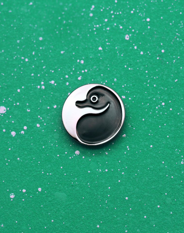 School of Platypus Yin Yang Enamel Pin