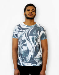 All -over Mono Marble Print from Platypus Streetwear