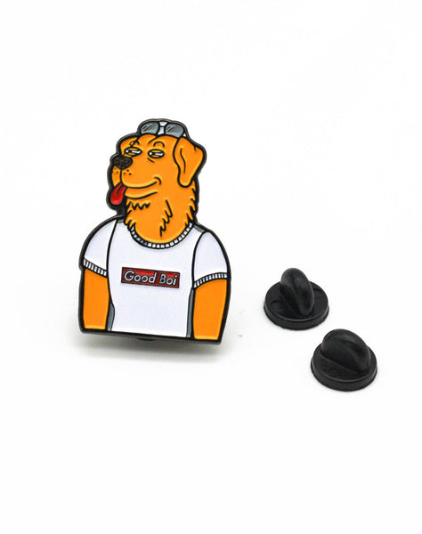 Streetwear Mr peanut butter enamel pin badge supreme parody with backs