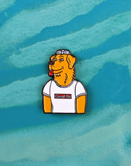 Mr peanutbutter enamel pin badge good boy supreme parody