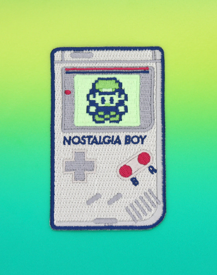 Nostalgia Boy (Glow in the Dark) Embroidered Iron-on Patch