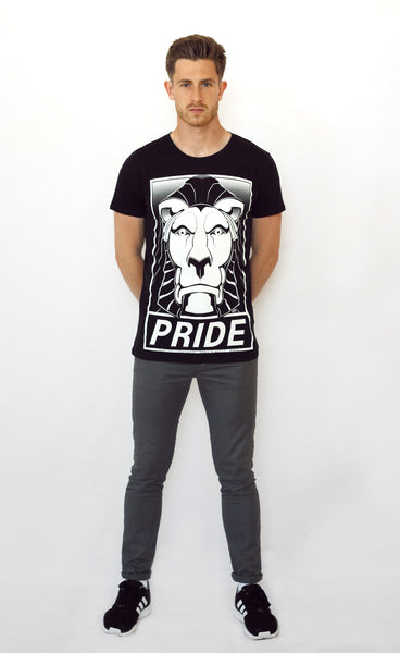 Full Model image of Left Lion Notts Pride T-shirt