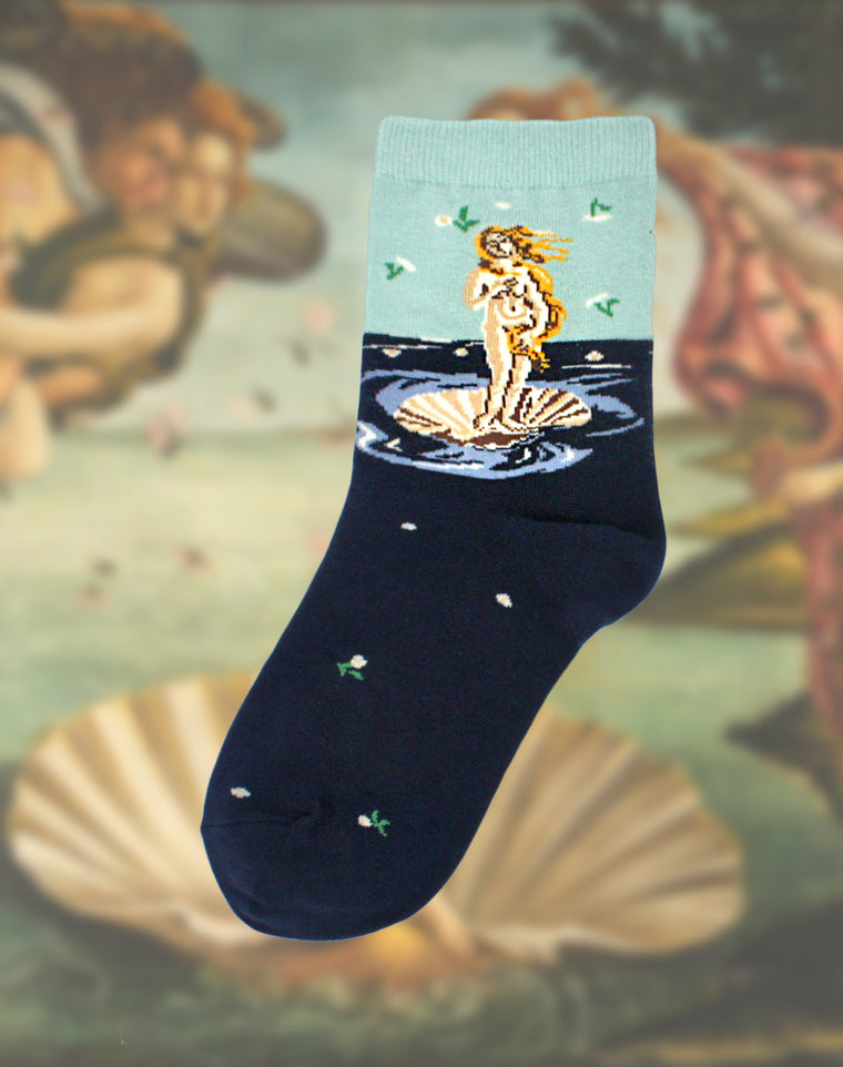 Botticelli's Birth of Venus Women's Art Socks