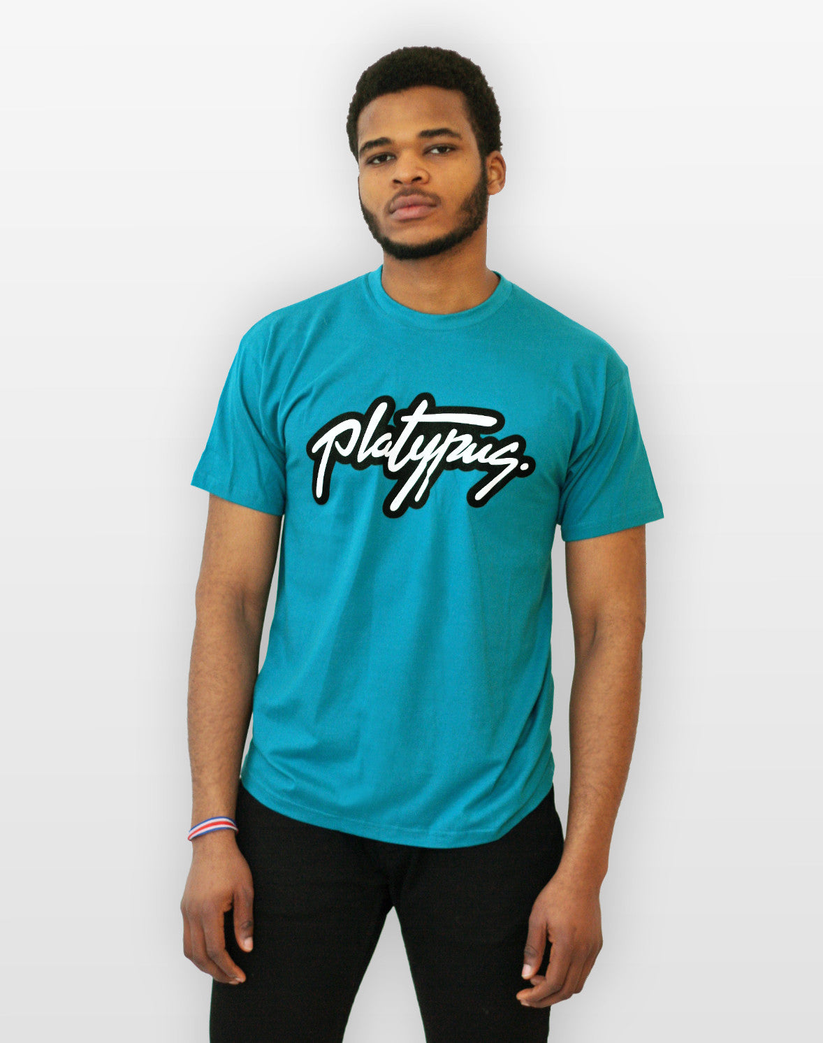 Model shot of Platypus logo tshirt