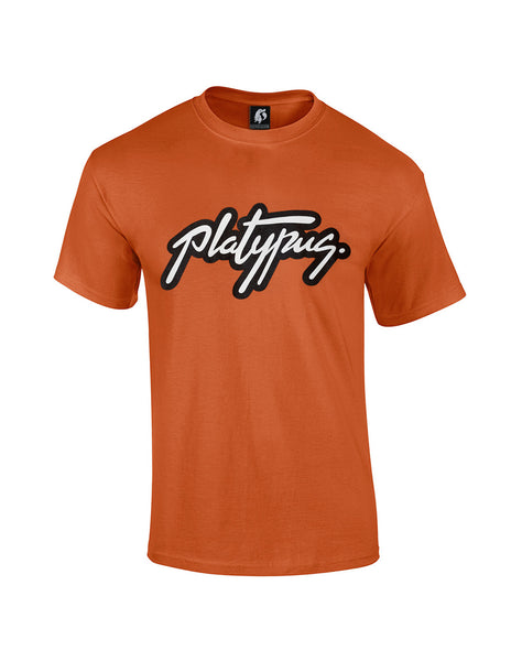 Platypus UK Logo Orange T-Shirt | British Streetwear Clothing